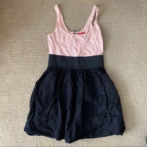 ELLE Black Lace and Pink Skater Dress